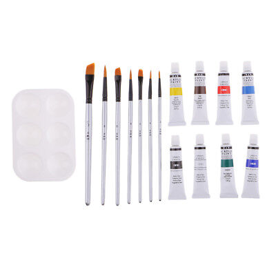 Tube Acrylic Paint Set with Palette Brush Painting Supplies for Kid Beginner