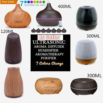 LED Oil Ultrasonic400ML Aroma Aromatherapy Diffuser Air Humidifier RP