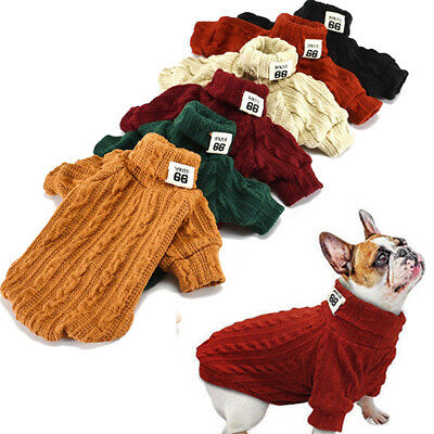 Dog Knitted Sweater Chihuahua Clothes Winter Knitwear Pet Puppy Jumper Apparel
