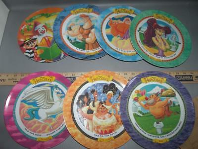 Vintage Set of 6 Disney *HERCULES* Collectible McDonalds Plate LOT (See Pics)