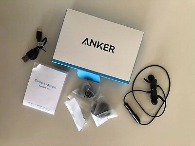 Anker SoundBuds Slim Wireless Headphones Lightweight Bluetooth 4.1 Earbuds