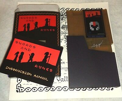 Swords and Runes NES Homebrew RPG Limited Edition CIB SIGNED & SOLD OUT !!