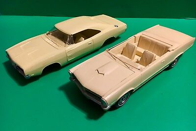 Lot of 2 -1965 Pontiac GTO Convertible Promo - 1969 Charger R/T Parts / Repair
