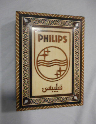 #Bb.  Philips Wooden Box With Lid Inlay
