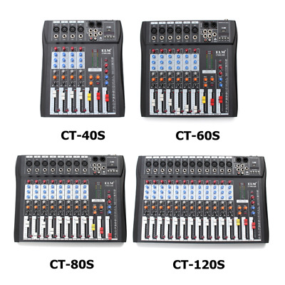 4/6/8/12 Channel Digtal Mic Line Audio Mixing Mixer Console with 48V Phantom US