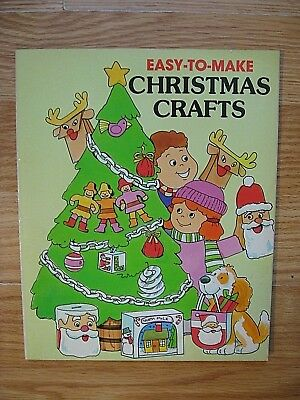 Easy to make CHRISTMAS CRAFTS for Kids Paperback Book Troll Associates 1986