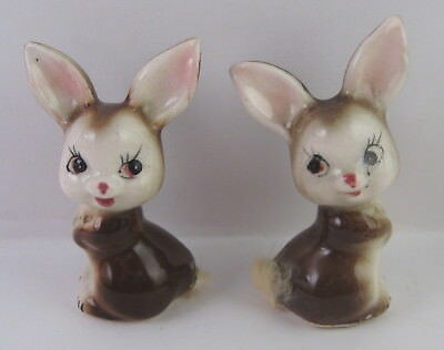 Vintage Napco No. 69 Mouse Salt & Pepper Shakers, Made in Japan