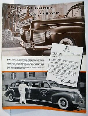 "1940's Mercury ""stretched chassis"" Luxury Coach Flyer"