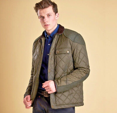 Barbour Sam Heughan Signature Collection Men's Dunnotar Quilted Jacket - Olive S