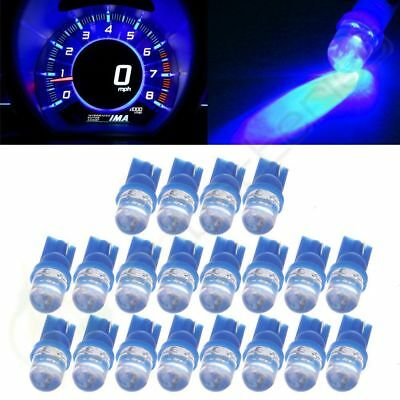 20Pcs Blue Wedge Diode LED License Plate Light Replacement Bulbs T10 W5W 194 168