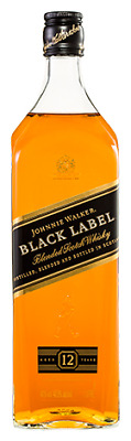 Johnnie Walker Black Label Whisky 1 Litre ea - Spirits - Origin Scotland