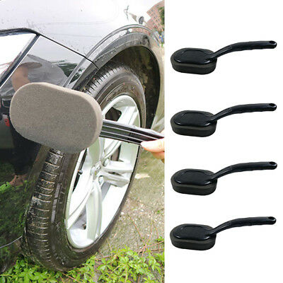 Car Vehicle Wheel Tire Long Handle Sponge Brush Cleaning Waxing Polishing Fine