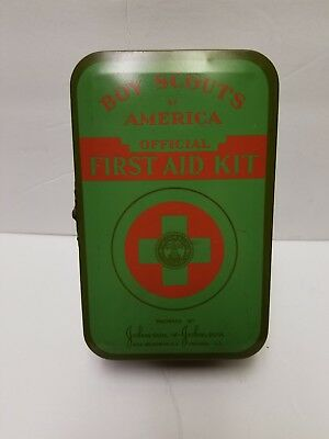 Vintage Boy Scouts of America First Aid Kit Johnson & Johnson 1940's Official