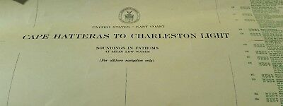 Restricted Cape Hatter to Chareston Light #110A Sept 1942 Map USGS & GEODETIC