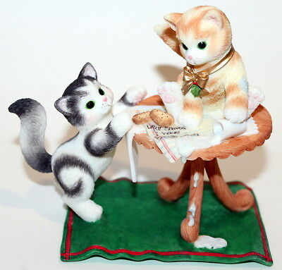 Calico Kittens 2002 Enesco It Takes A Smart Cookie To Find The Milk 104642