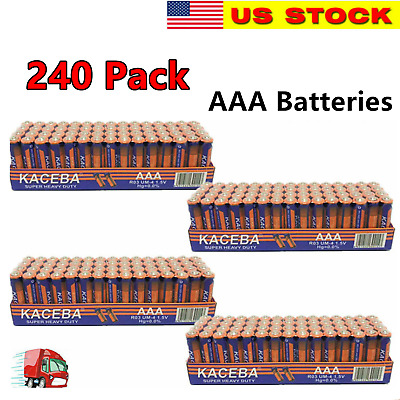 240 pack AAA Batteries Extra Heavy Duty 1.5v. 240 Pack Wholesale Bulk Lot