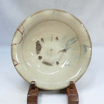 A636: Japanese BIG plate of really old SETO pottery with great taste