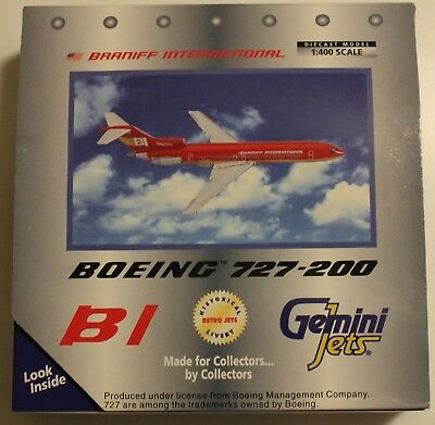 GEMINI JETS GJBNF182 BRANIFF 727-200 RED FLYING COLORS 1:400 Scale Boeing 727