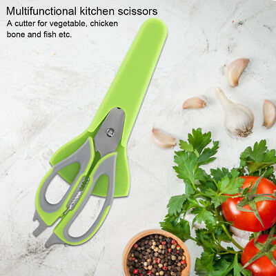 Kitchen Stainless Scissors Chicken Bone Meat Cut Poultry Fish Removable Shears