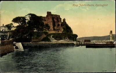 Ak Carlingford County Louth Irland, King John's Castle  - 2073642