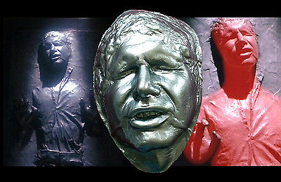 Han Solo in Carbonite Harrison Ford Life Mask Prop Star Wars Empire Jedi