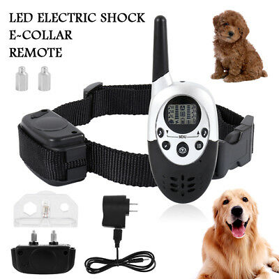 Dog Shock Training Collar Rechargeable Remote Control Waterproof IP67 1000Yards