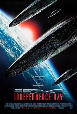 INDEPENDENCE DAY great original 27x40 D/S movie poster 1996 (th46)