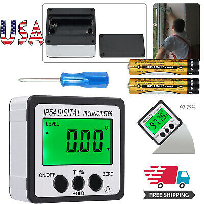 0-360° Level Box Protractor Digital Inclinometer Angle Finder Bevel Magnet Gauge