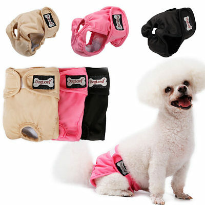 Washable Female Pet Dog Cat Nappy Diaper Physiological Pants  Panties Underwear