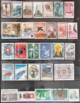 Selection of Used Stamps from Italy - see photo (34)
