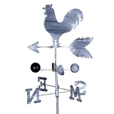 Vintage Rooster Weather Vane 120cm Wind Speed Spinner Direction Garden Ornament