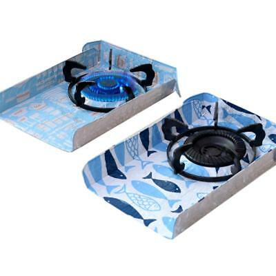 2pcs Reusable Gas Stove Top Burner Protector Liner Pad Cover Kitchen Cleaning