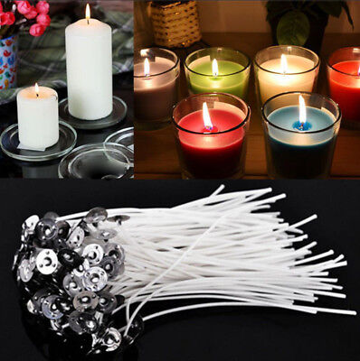 100PCS CANDLE WICKS 8-inch Cotton CORE Lots of Candle Making Supplies