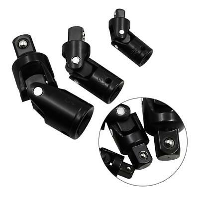 "3pc 1/2"" 3/8"" 1/4 Inch Drive Universal Joint Swivel Wobble Socket Impact Adapter"