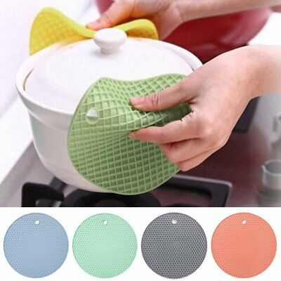 Silicone Kitchen Holder Mat Trivet Pot Tray Placemats Non-slip Heat Resistant