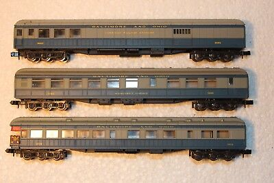 3X Passenger Carriages, Baltimore & Ohio, Standard Couplers, See Pics