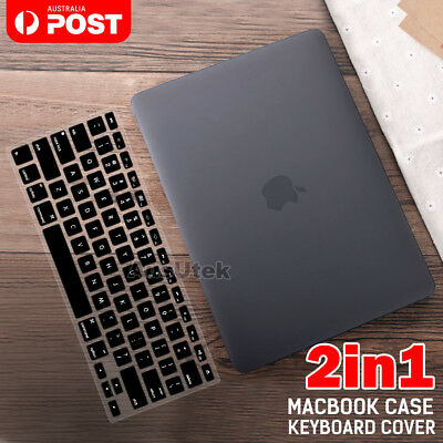 Apple MacBook Air 13 Inch Black Rubberised Hard Case Keyboard Cover Pro 13 Inch