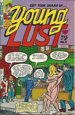 Wow! 1971 YOUNG LUST No. 2 Second Issue! Cartoons, Sex &more! Underground Comix!