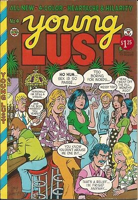Wow! 1974 YOUNG LUST No. 4 Cartoons, Sex & more! Underground Comix!