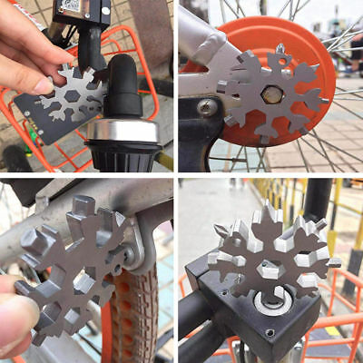 18 In 1 Multi Tool Stainless Steel Snowflake Shape Flat Cross Head Screwdriver Z