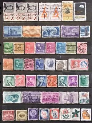 Selection of Used Stamps from the US - see photo (44)