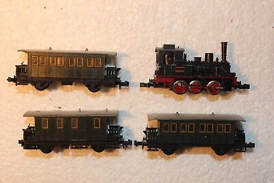Trix Steam Train & 3 Carriage Set, Boxed,engine Testrun Great,std Couplers,