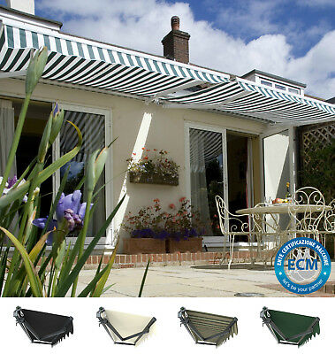 Primrose Patio Awning Charcoal Cassette Manual Garden Canopy Shade Retractable