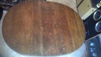 Oak oval table with barley twist legs and 4 chairs
