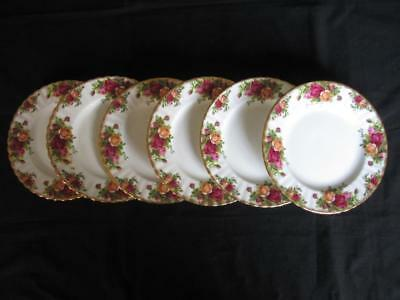 Royal Albert Old Country Roses Pattern 8.25 inch Salad or Dessert Plates x 6