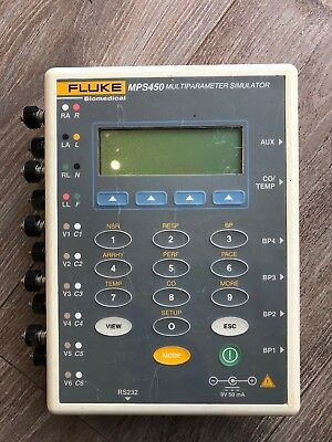 FLUKE MPS450 Patient multi parameter Simulator ECG IBP CO TEMP FETAL Respiration