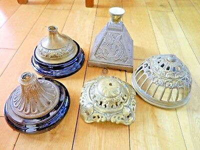 5 x  GOOD OIL LAMP BRASS BASES As Seen Spares