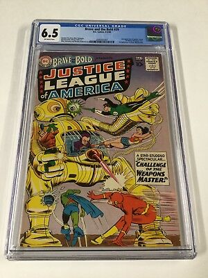 Brave And The Bold 29 Cgc 6.5 Ow Pages 2nd Appearance Of The Justice League