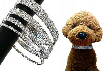 Dog Cat Rhinestone Necklace Bling Elastic Collar Pet Puppy Jewelry Accessories