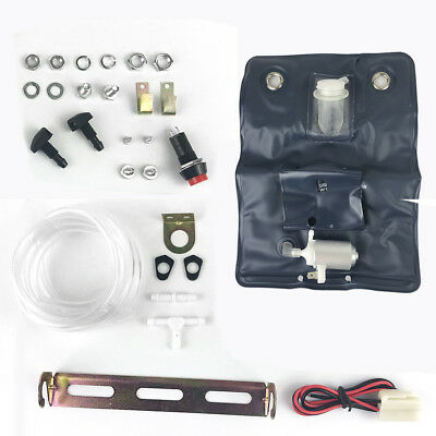 Universal 12V Car Windscreen Washer Bag Kit With Pump Classic Awp23